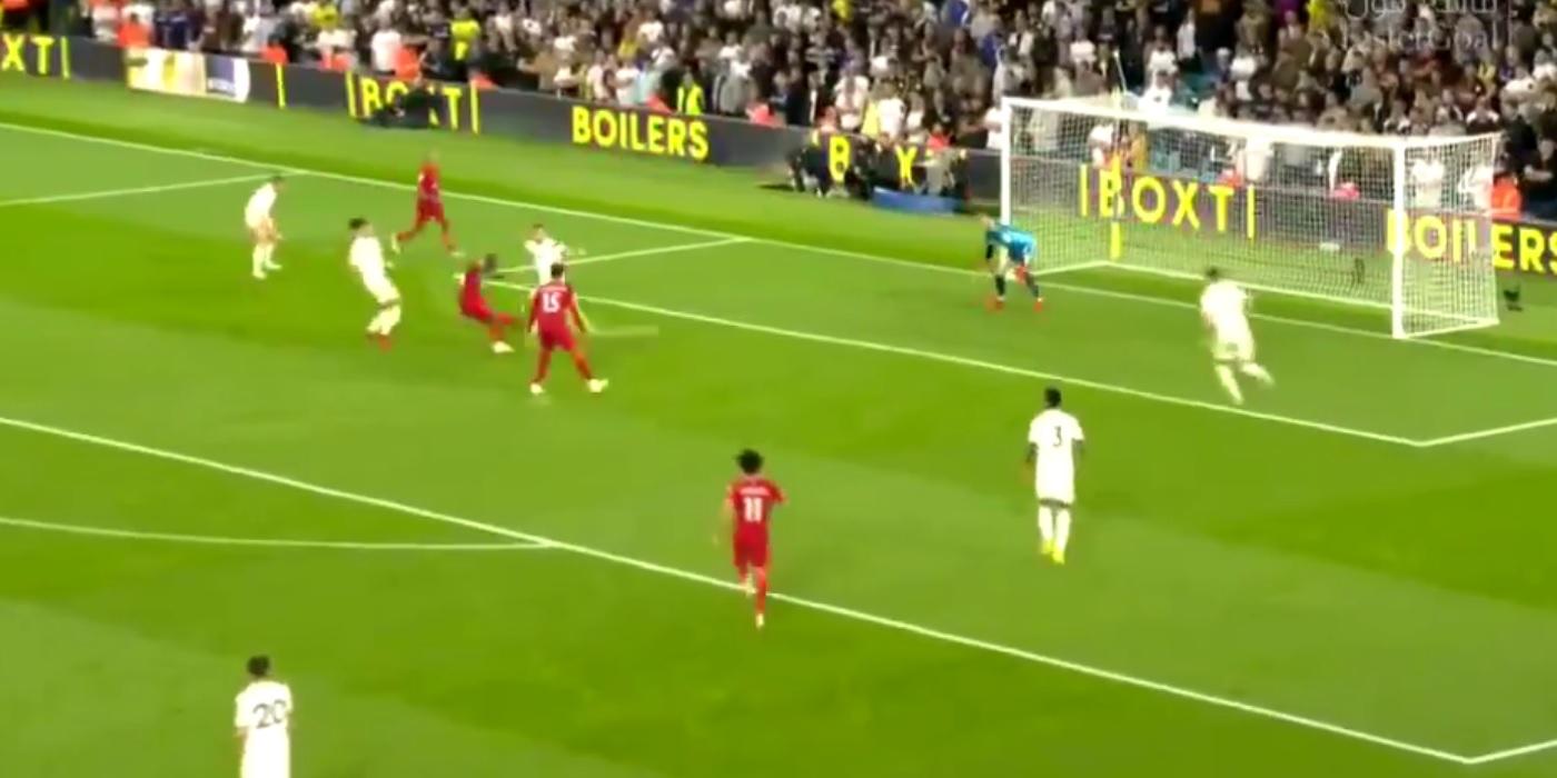 (Video) Sadio Mane extends Liverpool's lead to 3-0 v. Leeds; Thiago assist