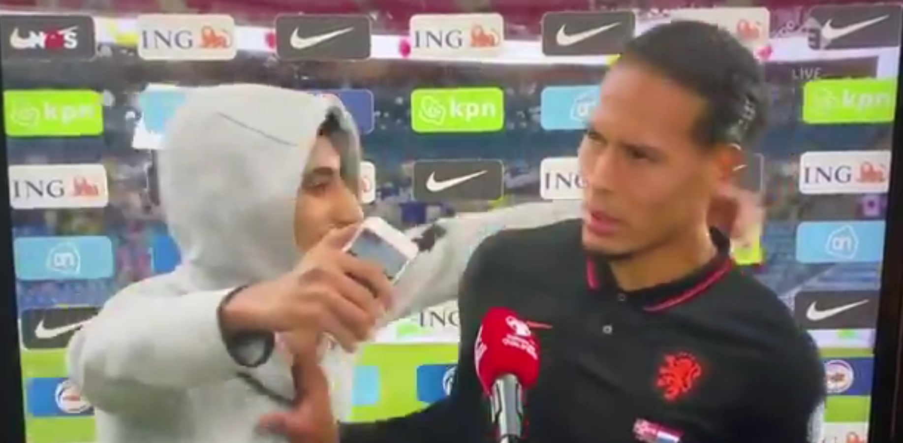 (Video) Liverpool star Virgil van Dijk pushes away excited fan in funny clip