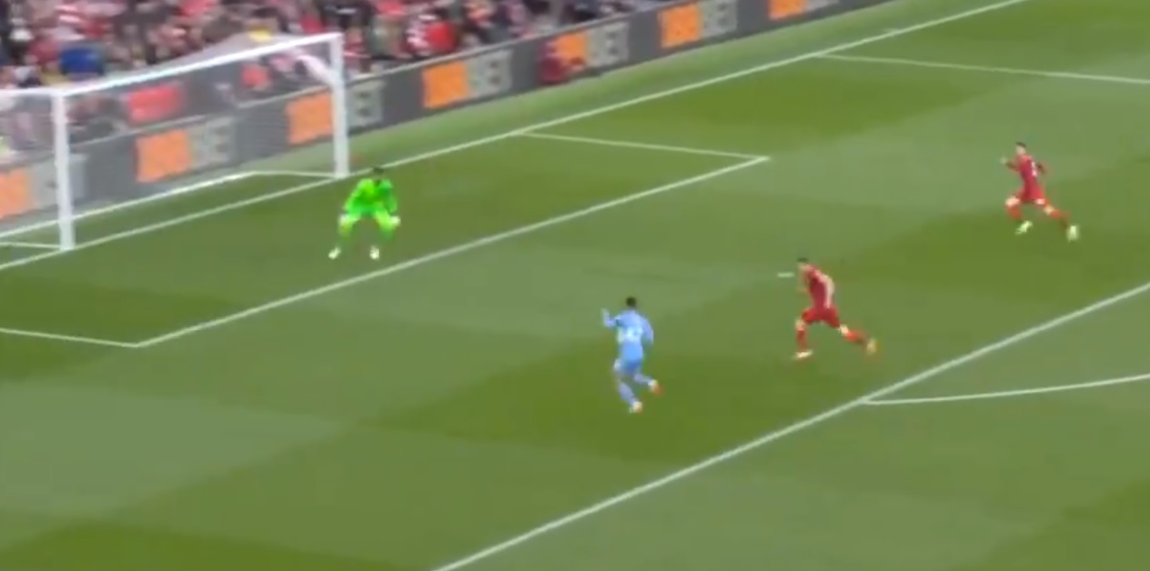 (Video) Alisson produces huge early save to deny Foden opener