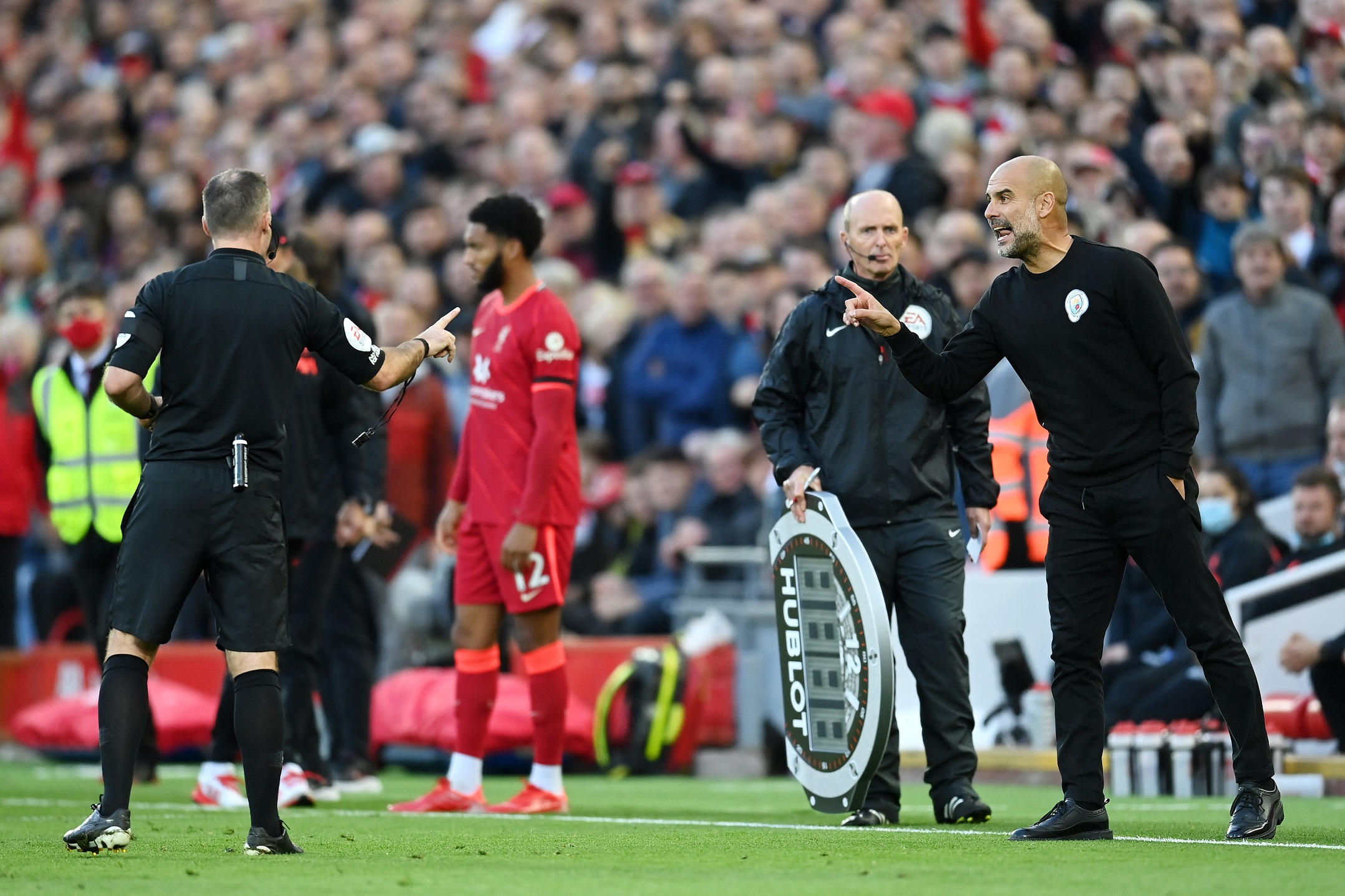 'It's Anfield, it's Old Trafford' – Pep Guardiola insinuates officials provided biased decision-making in Liverpool's 2-2 draw with Man City