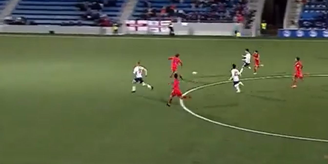 (Video) Curtis Jones plays crucial role in England U21s clash with well-taken second-half assist