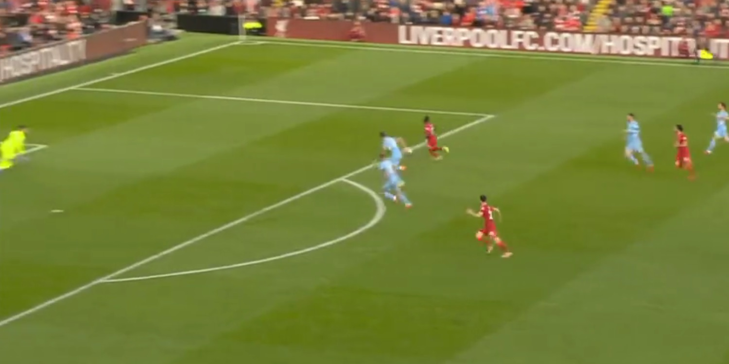 (Video) Mane puts Liverpool ahead at Anfield with cool finish v. City; brilliant Salah assist