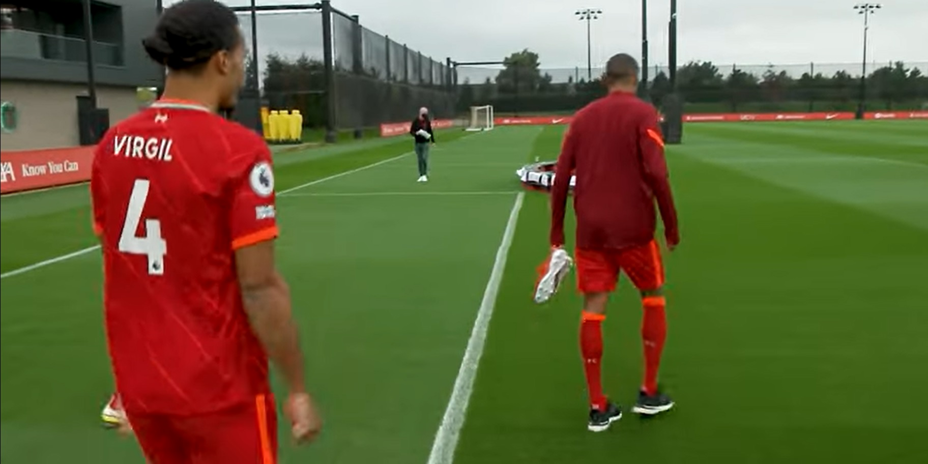 """(Video) Van Dijk rips into Matip in hilarious clip pre-team photoshoot: """"Red boots? Ballon d'Or candidate"""""""