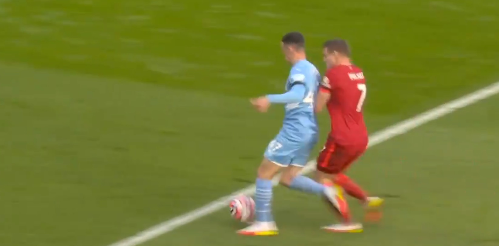 (Video) Foden's theatrics after rising from Milner challenge in cheeky attempt to win penalty