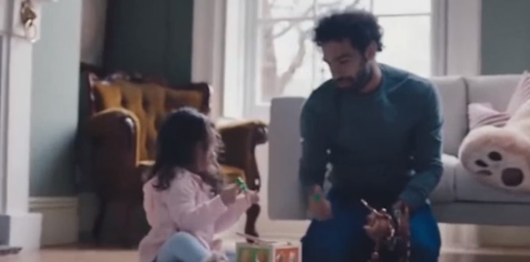 (Video) Mo Salah stars in spine-tingling new Vodafone advert with his daughter in Liverpool