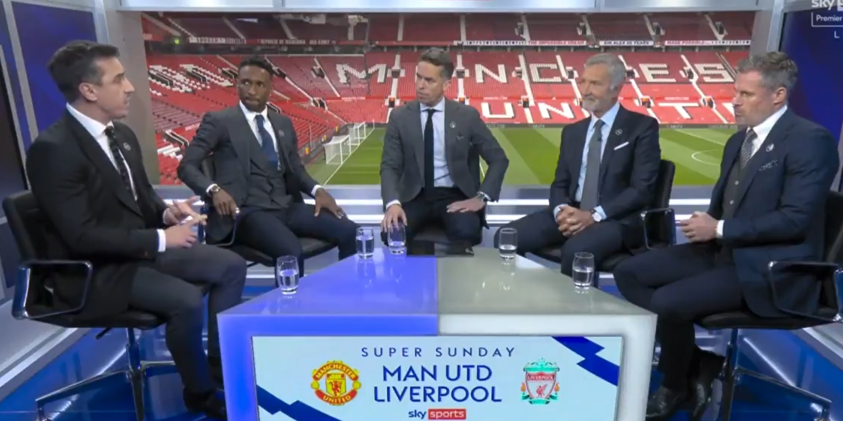 (Video) Souness and Neville get into heated argument ahead of Liverpool clash over Cristiano Ronaldo